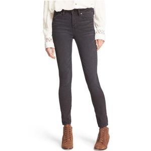 Free People Black Payton High Rise Skinny Jeans